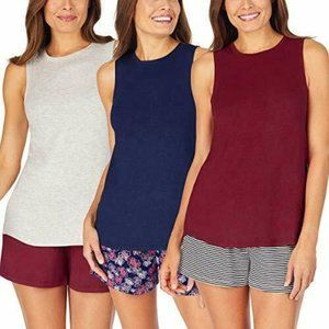Jane and Bleecker Womens 3 Pack Tank Top